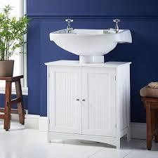 waschbeckenunterschrank mit 2 türen unterschrank badezimmerschrank viel stauraum mit verstellbarer einlegeboden weiß 60 30 60cm