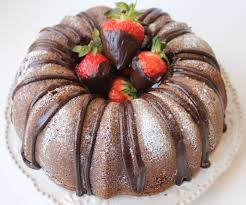 Chocolate Pound Cake Ganache Cream Strawberries…Oh My