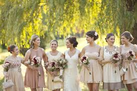 There Isnt Much We Like Better Than A Bridal Party Styled In Mismatched Bridesmaid Dresses Clutches The Bride Has Mixed Lace