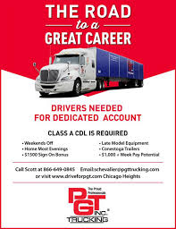 PGT Trucking Inc. Hiring LOCAL Truck Drivers! - Transport & Logistics Delivery Driver Opportunity In Chicago Uber Employment Banner Whosale Grocers 5 Important Things You Should Know About A Career Trucking Truck Driver Jobs America Has Shortage Of Truckers Money After Four Recent Crash Deaths Will The City Council Quire Truck Home Drivejbhuntcom Local Job Listings Drive Jb Hunt Make Money Without College Degree As Carebuilder Cfl Wac On Twitter Looking For New Career New Cdl Traing Science Fiction Or Future Trucking Penn Today Driving Knight Transportation Xpo Logistics