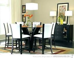 High Dining Room Tables 5 Piece Top Set Counter Height Round Glass End Table