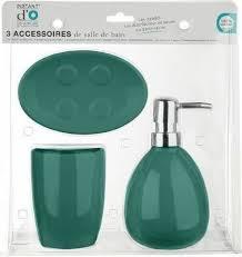 badezimmer set 3 elemente aus keramik smaragd farbe