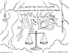 This Free Coloring Page Is Based On The Book Of Amos Its One Part