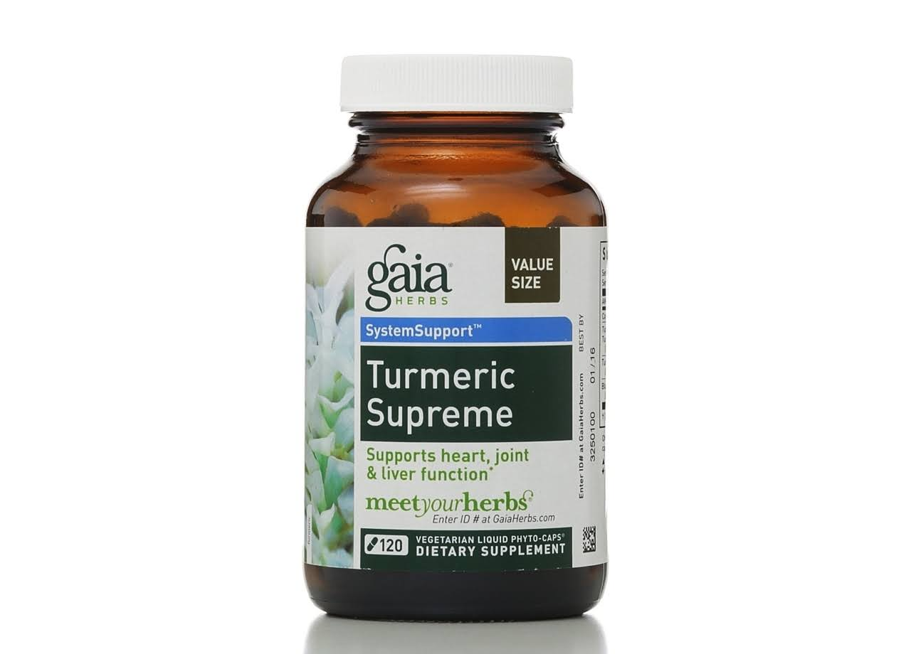 Gaia Herbs Turmeric Supreme Extra Strength Dietary Supplement - 120 Capsules