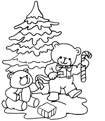 Christmas Tree Coloring Page Print Out by Christmas Coloring Page For Kids