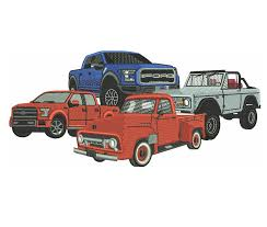 100 Ford Toy Trucks Embroidery Design Value Pack All 16 Designs 2000