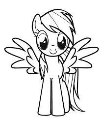 Rainbow Dash Smile Little Pony Coloring Pages