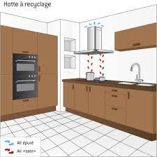 hauteur pour une hotte de cuisine hotte aspirante à recyclage ooreka