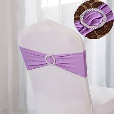 Wedding Chair Sash Buckles by Spandex Stretch Wedding Party Chair Cover Band Sashes With Buckle
