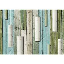 details zu fototapete wand holz vliestapete grün blau wohnzimmer schlafzimmer flur modern