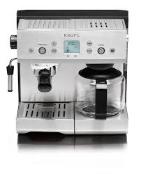 KRUPS XP2280 Espresso Machine And Coffee Maker Combination With Precise Tamp Technology Stainless Steel Housing Silver