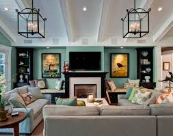 30 Multifunctional and Modern Living Room Designs with TV and