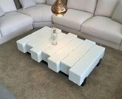 details zu balkentisch sofatisch sofa tisch couchtisch 80x140 matschfarbe weiß grau
