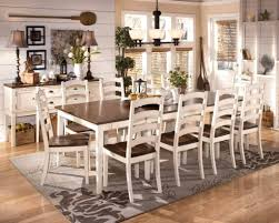 Charming Dining Table White Brown Pottery Barn Craigslist Distressed Plank Room Farmhouse For Sale
