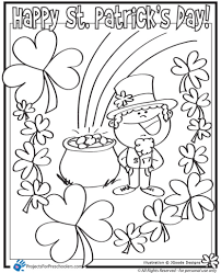 Saint Patricks Day Coloring Pages Pertaining To Found Home And New Free Printable St Patrick