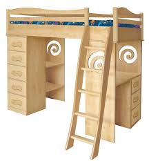 Space Saver Desk Ideas by Delightful Loft Bed With Two Sections Desk Underneath Bedroom
