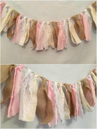 Rustic Lace And Burlap Garland