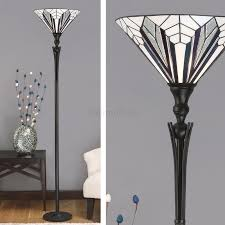 Franklin Iron Works Floor Lamp by Astoria Range Art Deco Tiffany Uplighter Floor Lamps Lighting