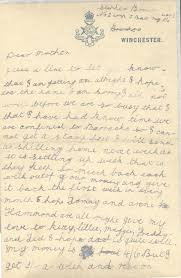 The First Page Of Stephen Browns Second 1914 Letter To His Family Image C IWM