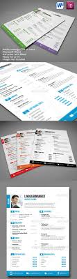 Sewon Clean Resume Template Volume 3 GraphicRiver Professional In 7 Different Colors Variations