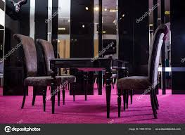 Wooden Table Color Black Gloss. Table Made Of Dark Wood ...