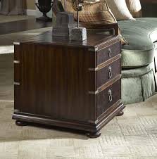 3 Drawer End Table with Tooled Leather Top by Fine Furniture