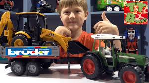 BRUDER TOYS. Video For Children. Tractor Trailer & Excavator Loader ... Bruder Toys Combine Harvesters Farm Playset Fun Toys For Kids Youtube Tractor Jcb Fastrac Ride Problems Bruder Toy Expert Episode 002 Cement Truck Review Toy Garbage Side And Back Loader Trucks Unboxing Excavator Loader Kids Playing With News Delivery 2016 Mercedes Benz Truck Crashes Lamborghini Scania Toys Manitou Mrt 007 Truck Ram 2500 Cars Rc Adventures Scania Rseries Liebherr Crane 03570 Trucks Tractors Cars 2018 Tractors Work Action Video