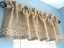 Burlap Valance Window Housewares Treatment Kitchen Rod Pocket Home Decor Curtains Draperies Custom