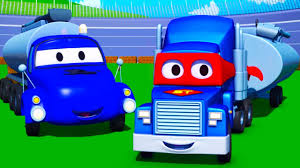 100 Trucks Cartoon Carl The Super Truck And The Tanker In Car City For