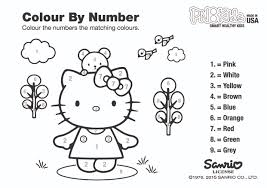 Downolad HELLO KITTY COLORING PAGE