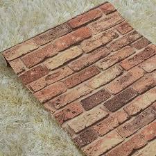 4264 Brick Stone Wall Paper Chinese Rustic Vintage 3D Pvc Exfoliator Embossed Washable Wallpaper Livingroom