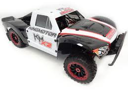 100 Rc Model Trucks King Motor RC X2 4WD Short Course Truck 34cc Blackwhite