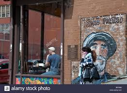 100 harlem hospital wpa murals mural new york harlem stock