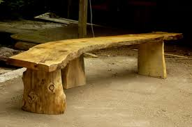 large rustic bench could use this for the cabins firepit