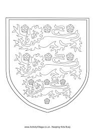 Three Lions Colouring Page