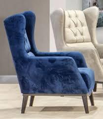 casa padrino chesterfield ohrensessel blau schwarz 80 x 80 x h 90 cm moderner wohnzimmer sessel chesterfield möbel wohnzimmer möbel