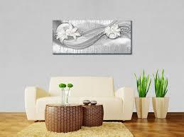 leinwandbild abstrakte lilien grau silber panoramabild foto leinwand wandbild foto geschenke m0524