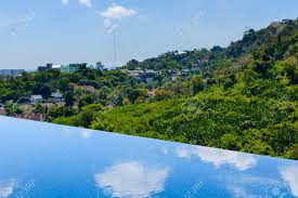 100 Infinity Swimming Swimming Pool On Roof Top With Beautiful Nature View