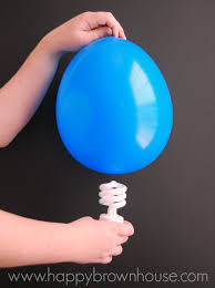 magic light bulb balloon science experiment happy brown house