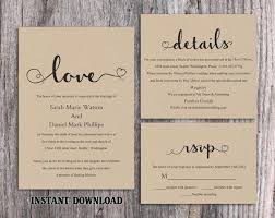 DIY Burlap Wedding Invitation Template Set Editable Word File Download Printable Rustic Heart Elegant Invite