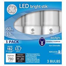 ge led 60watt bright stik light bulb 3pk daylight target