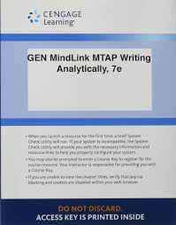 MindLink For MindTap, Writing Analytically 7e: Cengage ...