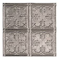amazon com ceiling tile faux tin like anet antique silver