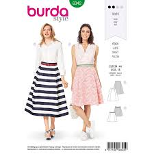Misses Side Pleat Skirt Burda Sewing Pattern 6342 Sew Essential