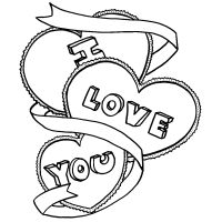 I Love You Coloring Pages Only