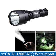 ultrafire c8 cree xm l t6 led light bulb 1300lm 5 modes aluminum