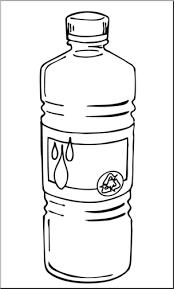 Clip Art Bottled Water B&W I abcteach preview 1