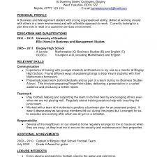 Resume Objective For Part Time Job New Student Template Inside Cv