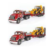 100 Bruder Tow Truck Toys Mack Granite Flatbed Low Loader JCB Loader