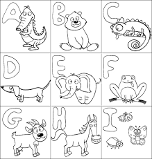 Coloring Book With Alphabet Vector 1016281
